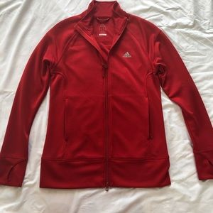 True Red Women's Adidas Climalite Jacket
